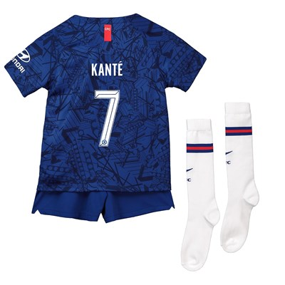 Chelsea Home Cup Stadium Kit 2019-20 - Little Kids with Kanté 7 printing