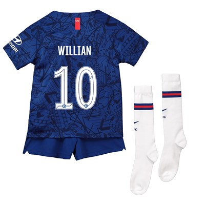 Chelsea Home Cup Stadium Kit 2019-20 - Little Kids with Willian 10 printing