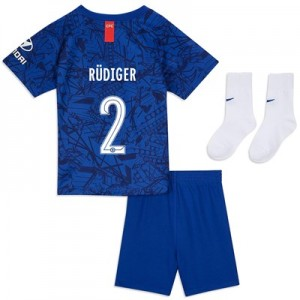 Chelsea Home Cup Stadium Kit 2019-20 - Infants with Rüdiger 2 printing
