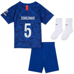 Chelsea Home Cup Stadium Kit 2019-20 - Infants with Jorginho 5 printing