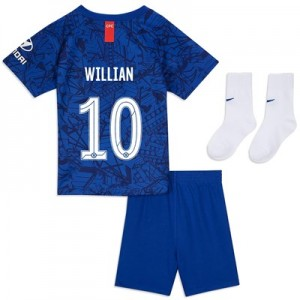 Chelsea Home Cup Stadium Kit 2019-20 - Infants with Willian 10 printing