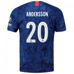 Chelsea Home Cup Stadium Shirt 2019-20 with Andersson 20 printing