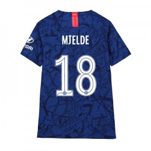 Chelsea Home Cup Vapor Match Shirt 2019-20 - Kids with Mjelde 18 printing