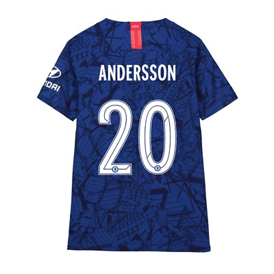 Chelsea Home Cup Vapor Match Shirt 2019-20 - Kids with Andersson 20 printing