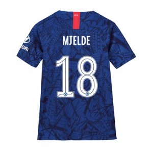 Chelsea Home Cup Stadium Shirt 2019-20 - Kids with Mjelde 18 printing