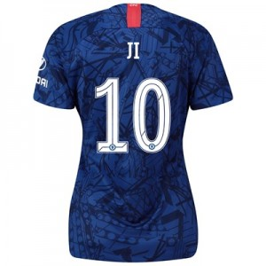 Chelsea Home Cup Stadium Shirt 2019-20 - Womens with Ji 10 printing
