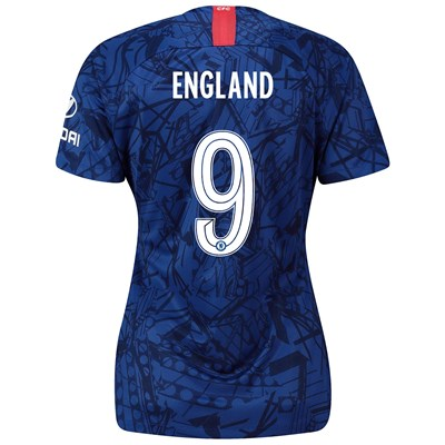 Chelsea Home Cup Stadium Shirt 2019-20 - Womens with England 9 printing