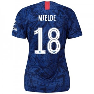 Chelsea Home Cup Stadium Shirt 2019-20 - Womens with Mjelde 18 printing