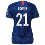 Chelsea Home Cup Stadium Shirt 2019-20 - Womens with Cooper 21 printing