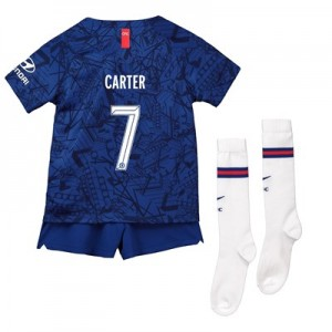 Chelsea Home Cup Stadium Kit 2019-20 - Little Kids with Carter 7 printing