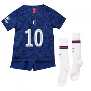 Chelsea Home Cup Stadium Kit 2019-20 - Little Kids with Ji 10 printing