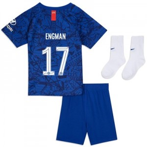 Chelsea Home Cup Stadium Kit 2019-20 - Infants with Engman 17 printing