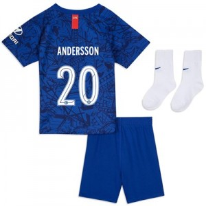 Chelsea Home Cup Stadium Kit 2019-20 - Infants with Andersson 20 printing