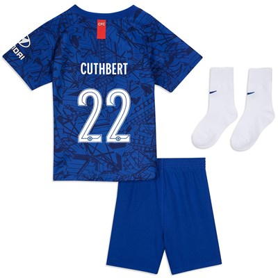 Chelsea Home Cup Stadium Kit 2019-20 - Infants with Cuthbert 22 printing