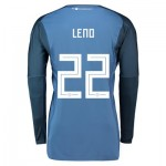 Germany Home Goalkeeper Shirt 2018 with Leno 22 printing
