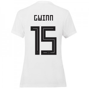 Germany Home Shirt 2019 - Womens with Gwinn 15 printing