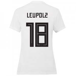 Germany Home Shirt 2019 - Womens with Leupolz 18 printing