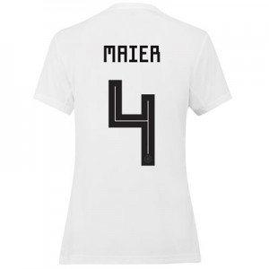 Germany Home Shirt 2019 - Womens with Maier 4 printing