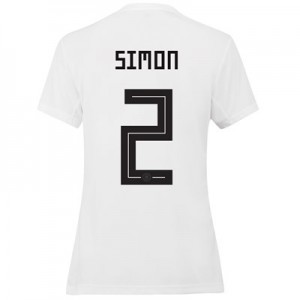 Germany Home Shirt 2019 - Womens with Simon 2 printing