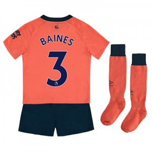 Everton Away Infant Kit 2019-20 with Baines 3 printing