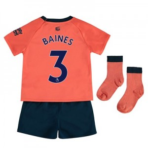 Everton Away Baby Kit 2019-20 with Baines 3 printing