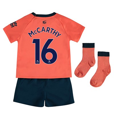 Everton Away Baby Kit 2019-20 with McCarthy 16 printing