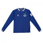 Everton Home Shirt 2018-19 - Kids - Long Sleeve