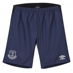 Everton Training Long Woven Shorts - Dark Blue - Kids