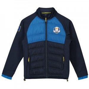 The 2018 Ryder Cup European Fanwear Padded Hybrid Jacket - Junior - Navy/Royal