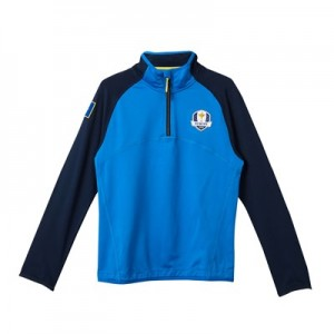 The 2018 Ryder Cup European Fanwear Tech Midlayer - Junior - Royal/Navy