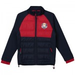 The 2018 Ryder Cup USA Fanwear Padded Hybrid Jacket - Junior - Navy/Red