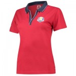 The 2018 Ryder Cup USA Fanwear Pique Polo - Womens - Red