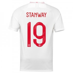 England Home Stadium Shirt 2018 with Stanway 19 printing