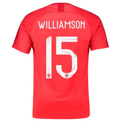 England Away Stadium Shirt 2018 with Williamson 15 printing