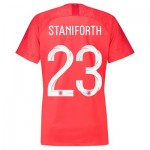 England Away Stadium Shirt 2018 - Womens with Staniforth 23 printing