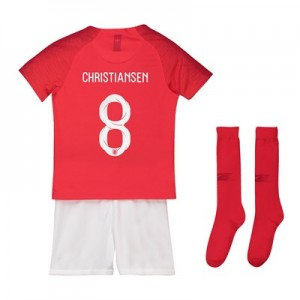 England Away Stadium Kit 2018 - Little Kids with Christiansen 8 printing