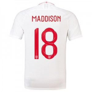 England Home Vapor Match Shirt 2018 with Maddison 18 printing