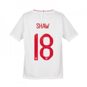 England Home Vapor Match Shirt 2018 - Kids with Shaw 18 printing