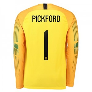 England Goalkeeper Stadium Shirt 2018 with Pickford 1 printing