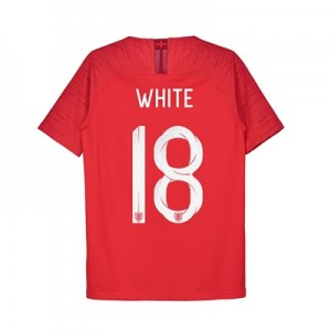 England Away Vapor Match Shirt 2018 - Kids with White 18 printing