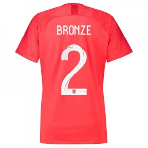 England Away Stadium Shirt 2018 - Womens with Bronze 2 printing