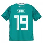 Germany Away Shirt 2018 - Kids with Sané 19 printing