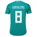 Germany Authentic Away Shirt 2018 with Goeßling 8 printing