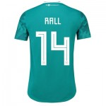 Germany Authentic Away Shirt 2018 with Rall 14 printing