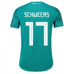 Germany Authentic Away Shirt 2018 with Schweers 17 printing