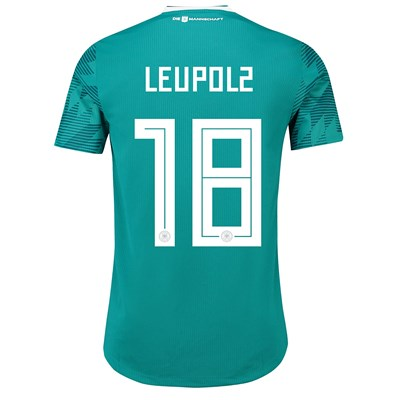 Germany Authentic Away Shirt 2018 with Leupolz 18 printing