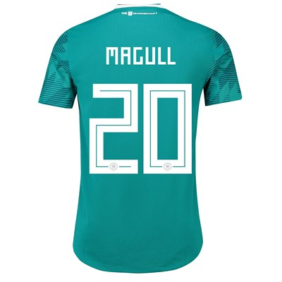 Germany Authentic Away Shirt 2018 with Magull 20 printing