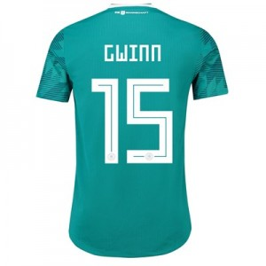 Germany Authentic Away Shirt 2018 with Gwinn 15 printing