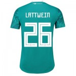 Germany Authentic Away Shirt 2018 with Lattwein 26 printing
