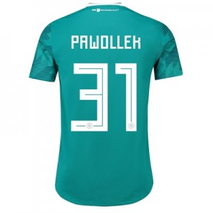 Germany Authentic Away Shirt 2018 with Pawollek 31 printing